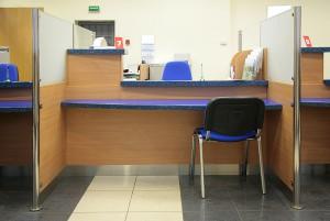 Bank Desk with Quartz Engineered countertops